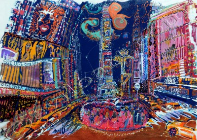 Nyc1 - Acrylic sur toile on canvas / 54x74cm