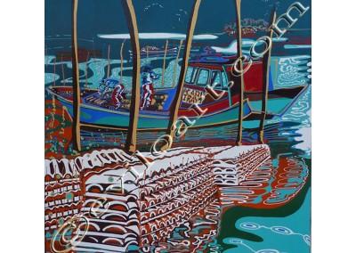 Parqueurs du Bassin - Acrylic sur toile on canvas / 100x100cm