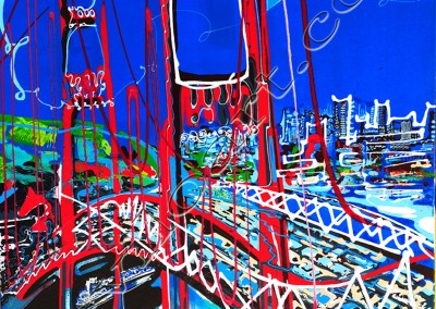 San Francisco - Acrylic sur toile on canvas / 100x80cm