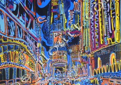 Times Square1 - Acrylic sur toile on canvas / 100x100cm