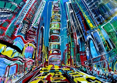 Times Square 2 - Acrylique sur toile on canvas / 100x100cm