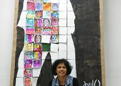 Fresque 4M. .  de 70 Portrait Minute en 2h